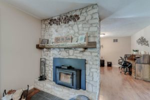Fireplace- county home